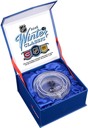 2016 Bridgestone NHL Winter Classic Montreal Canadiens vs. Boston Bruins Crystal Puck - Filled With Ice From The 2016 Winter Classic - Fanatics Authentic Certified