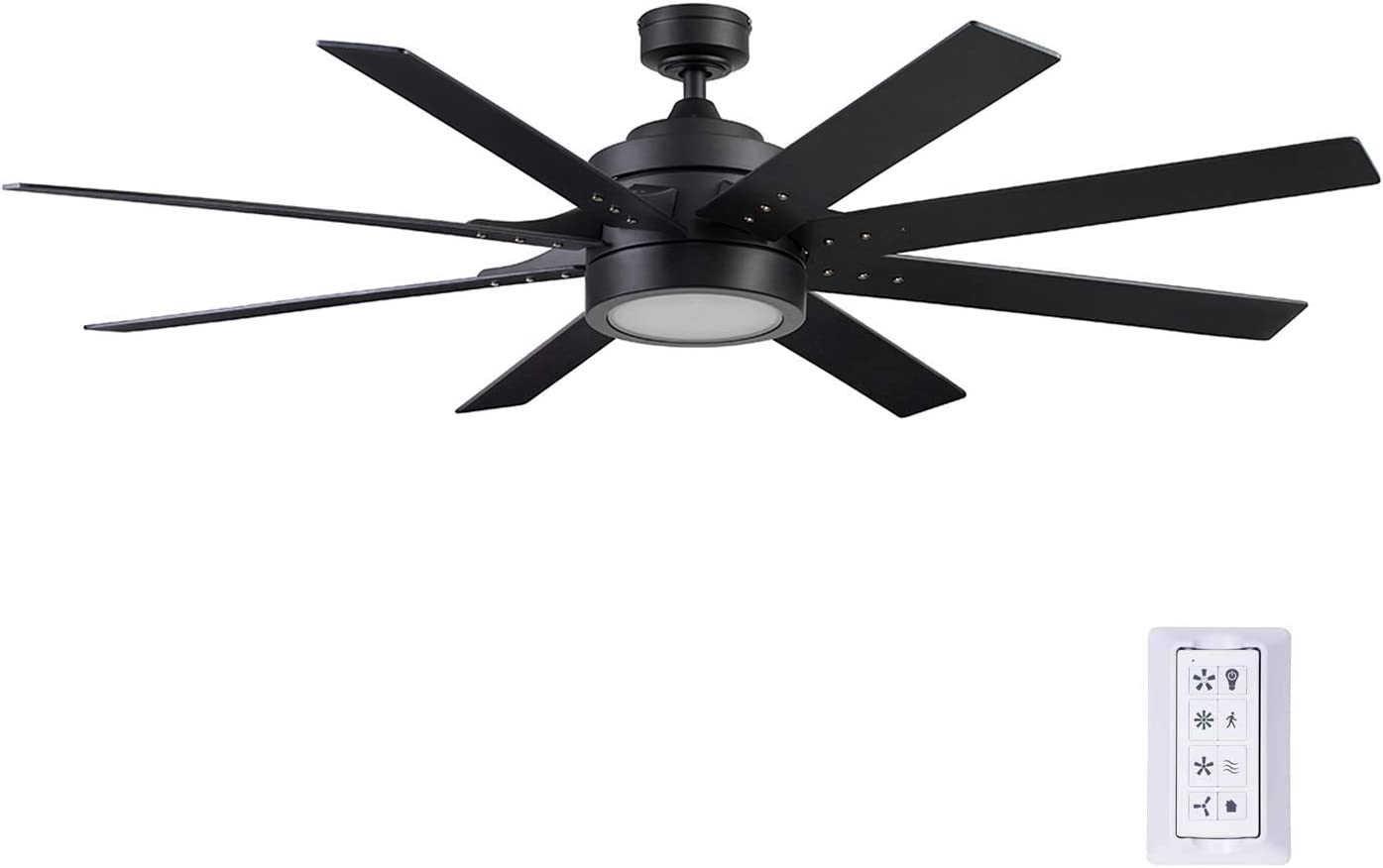 Honeywell Ceiling Fans 51473-01 Xerxes Ceiling Fan, 62, Matte Black