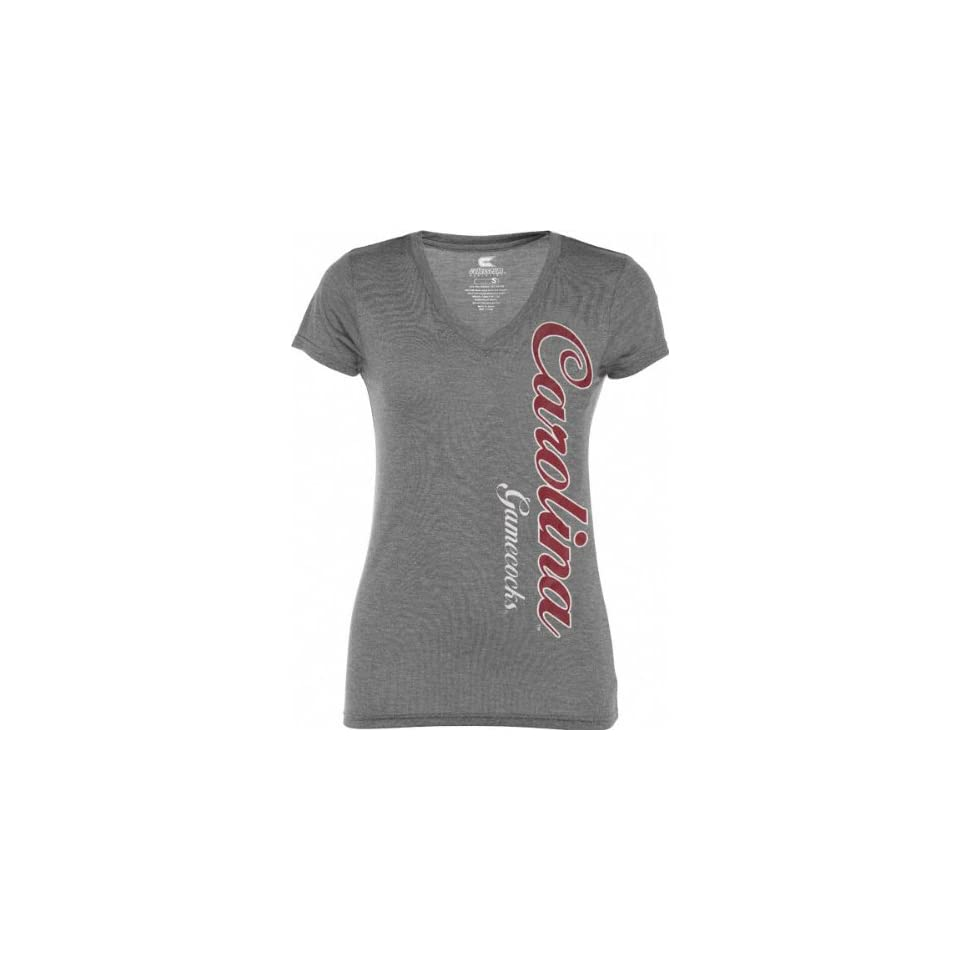 South Carolina Gamecocks Womens Heathered Charcoal Cannon Tee