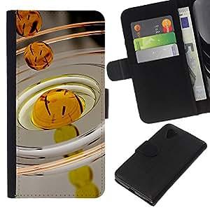 Stuss Case / Funda Carcasa PU de Cuero - Petróleo Macro gota - LG Nexus 5 D820 D821