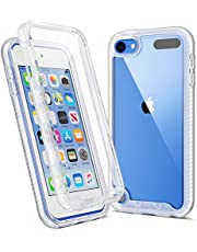 ULAK iPod Touch 7 Case, iPod Touch 6 Case, Knox Armor Shockproof Case with Build in Screen Protector Heavy Duty Protection Hybrid Rugged Cover for iPod Touch 7th/6th/5th Generation, White