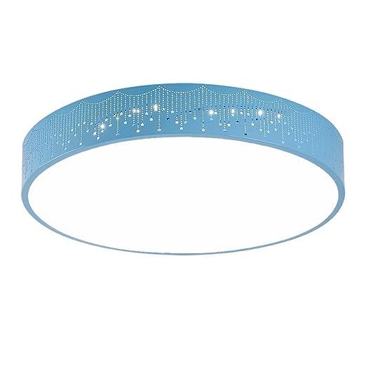 Color : Blue-30*10CM LED Rundhohl Gestreifte Deckenleuchte PIAOLING Modernen Minimalistischen Schlafzimmer Wohnzimmer Deckenleuchte Kreative Pers/önlichkeit Jungen Und M/ädchen Kinderzimmer Lampen