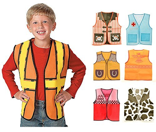 Darice Kids Dressup Set #2 with 7 Non Woven Costume Vests