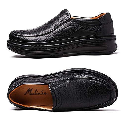 Cuero Zapatos de Antideslizantes la Hombres de Hecha Negro Hombre 8 Mano Zapatos 5 para los HhGold Color 9 Zapatos 5 tamaño UK cómodos a Marrón para de Ocasionales US Hombres Suela wxqv7ztY