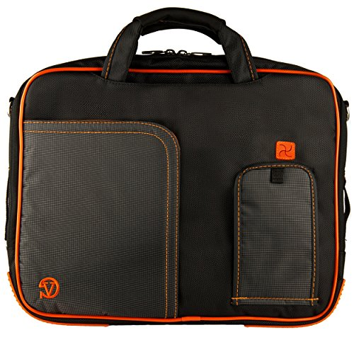 Orange VG Pindar Edition Durable Messenger Shoulder Bag Case for Acer Aspire 15.6 inch Laptop Models TM6595T TM8573T V3-551-8664 V3-551-8809 V3-571-6643 V3-571-6800 V3-571-6849 V3-571G-6602 V3-571G-6641 V3-571G-9435 AS5250 AS5349 AS5560 AS5733 AS5733Z AS5749 AS5749Z AS5750 AS5750G AS5750Z AS5755 AS5755G AS5830T TM5744 TM5744Z TM5760 E1-531-2697 E1-531-4444 E1-571-6492 E1-571-6650 M5-581T-6490 M5-581T-6594 M5-581TG-6666 + SumacLife TM Wisdom Courage Wristband