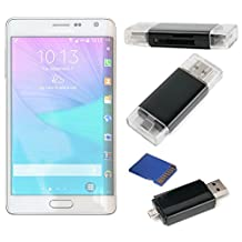 USB 2.0 SD/MicroSD Card Reader For The New Samsung Galaxy Core Max   Note Edge   Note 4   Note 4 Duos   Note 3   Note II - by DURAGADGET