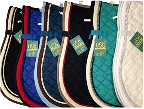 USG Quilted Saddle Cloth With Rope Binding - Lake Blue for sale  Delivered anywhere in USA