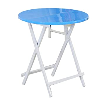 NJLC Table Jardin, Table Ronde en Plastique De MéNage Table Pliante ...
