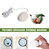 EstgoSZ USB Mini Ultrasonic Washing Machine Automatic Laundry Cleaning Great Gadget for Washing Fruits Vegetables,Travel Wash Underwear Socks, Winter is Not Cold