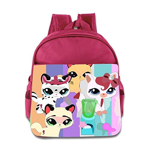 Price comparison product image Kids Littlest Pet Shop School Backpack Fashion Baby Boys Girls School Bag Pink