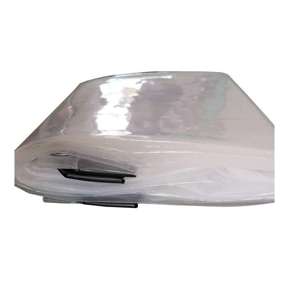 Clear 1x2m Wangcfsb RevêteHommest de Sol en Verre Transparent de bÂche Couvrant la Feuille en Plastique résistant à la Pluie d'auvent d'usine résistante de Balcon (Couleur   Clear, Taille   3x3m)