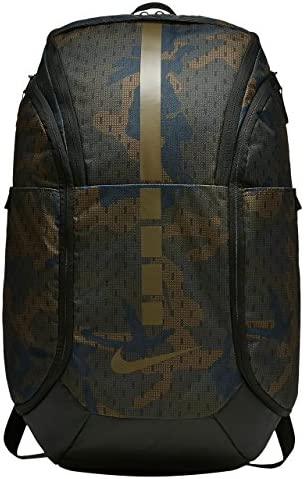 Nike Hoops Elite Hoops Pro Basketball Camo Backpack Cargo Khaki Black Yukon Brown