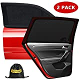Car Window Shades, Car Sun Shades for Baby, Breathable Mesh Car Rear Side Window Shade Universal Fit for Most(95%) of Cars-Protect Baby Pet from The Sun-Cover Full Windows-Travel E-Book-2 PACK