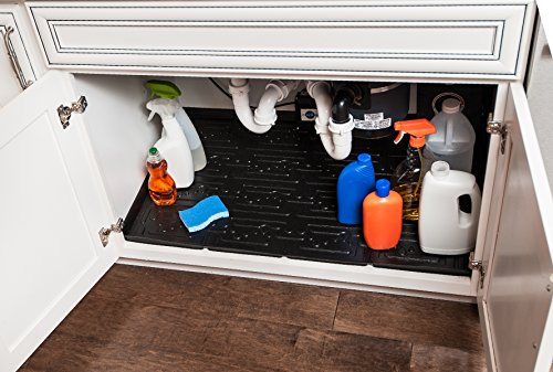 Xtreme Mats Under Sink Bathroom Cabinet Mat (21 3/8 X 18 1/2) (Black)