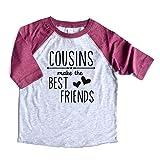 Cousins Make The Best Friends Shirt Raglan Boy/Girl Matching Cousins Tshirts Family Tees Reunion Gift