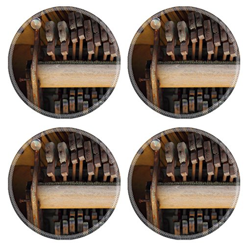 Liili Round Coasters Piano hammers from a vintage piano Musical background or detail 28711760 (Vintage Piano Stool compare prices)