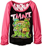 girl toddler ninja turtle shirt - Teenage Mutant Ninja Turtles Little Girls' Long Sleeve T-Shirt Shirt, Black/Hot Pink, 4