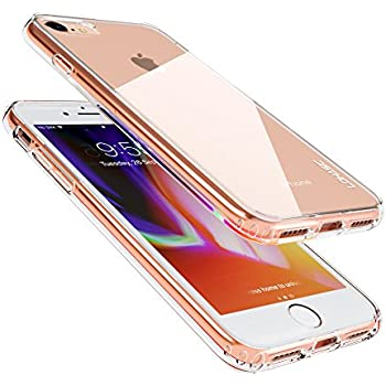 iPhone 8 7 Case,Clear Hard Slim Hybrid Cute Protective Armor Defender Anti-Slip Shock-proof Scratch Resistant Soft Silicone Bumper Frame+Transparent Solid Back Case Cover for Apple i-Phone 7 8 Crystal