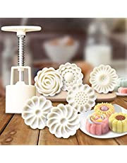 GDGY 6+1 Chinese Flowers Pattern Mooncake Mold Candy Pineapple Cake Cookie DIY Baking Mold