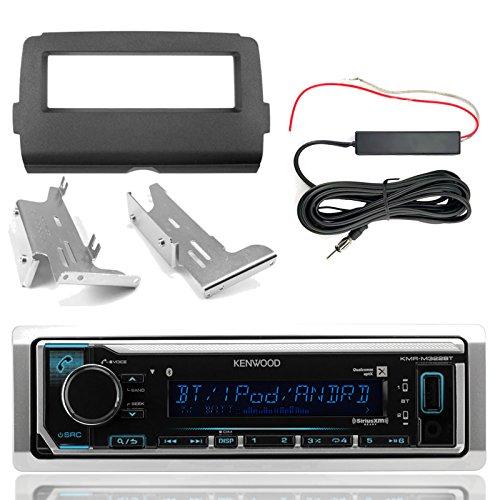 Kenwood KMR-M322BT Marine Bluetooth Radio, Enrock Harley Dash Kit, Hide Away Antenna Booster Kit (Select 2014-Up Harley Davidson)