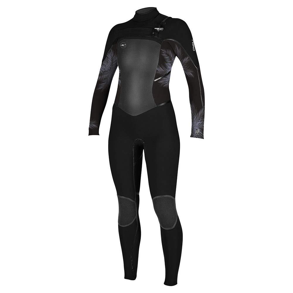 14 O';Neill damen Psycho Tech 4 3 MM Chest Zip Wetsuit SchwarzMist - Schnell Dry - rotZone wasserdicht Reißverschluss - Doppeldichtkragen