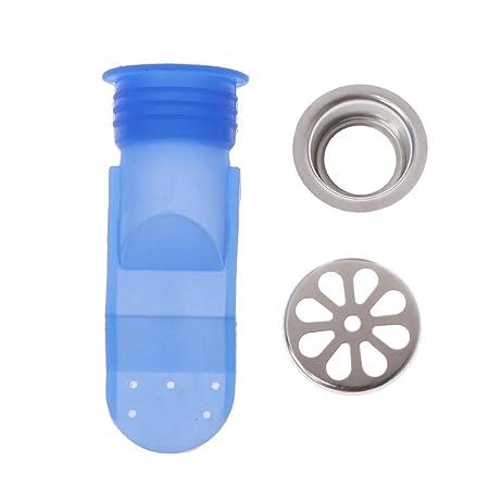 Zhi Jin ajustable silicona fregadero piso drenaje trampa para tuber/ías de desag/ües v/álvula antirretorno para balc/ón de ba/ño paquete de 6