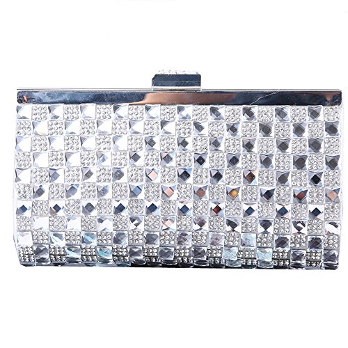 Embrayage Clutch Lovely Fermoir Soirée Gold Silver Main Femme Color rabbit Pochette Strass de Soirée Sac à xqc8w1Hq0
