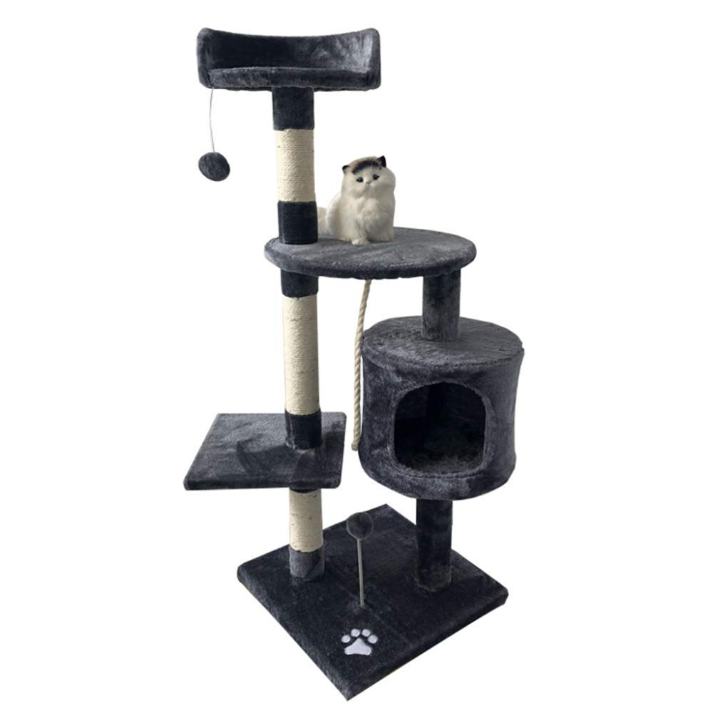 B Mingc Cat Tree House Large Level Sisal Activity Centre Cat Tower Furniture And Dangling Ball For Kittens, Cats And Pets,B