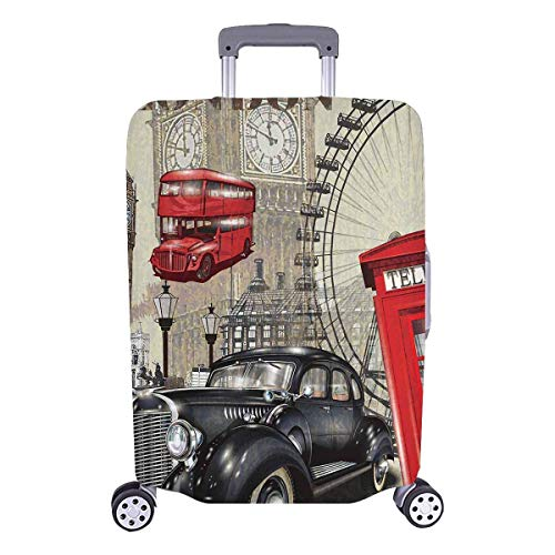 ade727dd1ad5 VANKINE Vintage London Big Ben and Red Telephone Booth High Quality Travel  Luggage Cover Suitcase Baggage Protector Fits 26