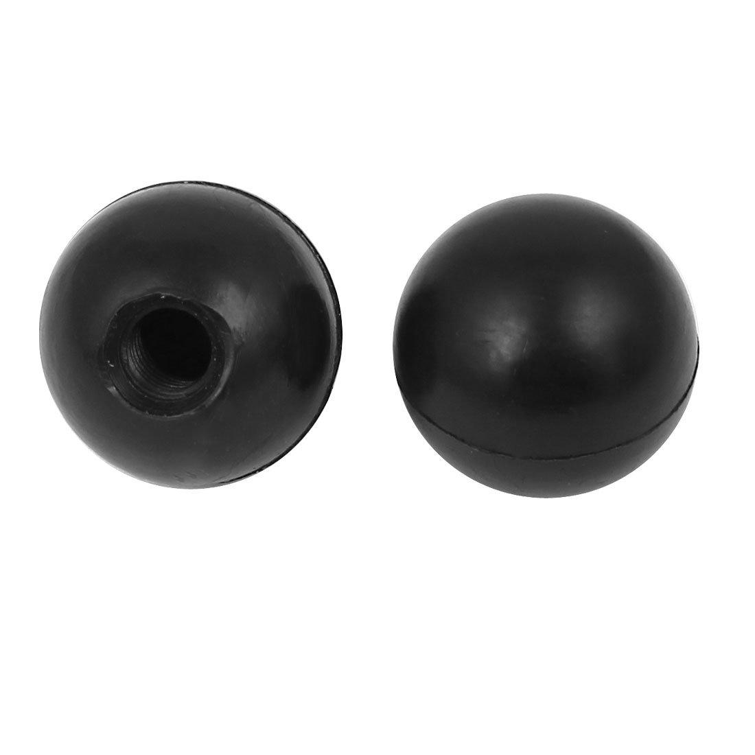 Sourcingmap/® 2Pcs Plastic Shell M8x25mm Round Ball Lever Knob Machine Control Grip