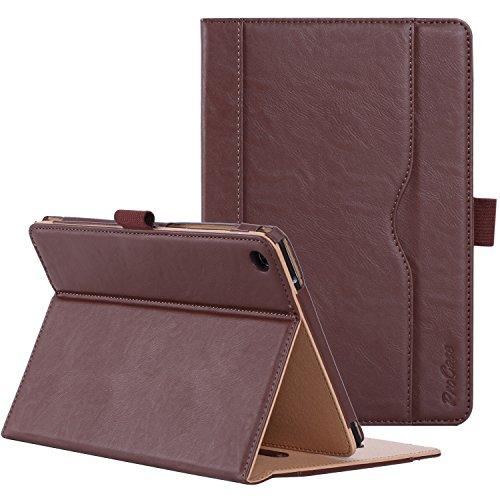 ProCase ASUS ZenPad S 8.0 Z580C Case (2015 ZenPad Z580C,Z580CA) with Bonus Stylus Pen - Stand Cover Folio Case for ASUS ZenPad S 8.0 Z580C, Multiple Viewing Angles, Document Card Pocket (Brown)