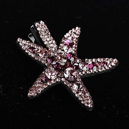 Horquilla de Perlas Corea del Lado Tocado Carpeta de Estrellas de mar de Diamantes de Corea del Pico de Pato Clip de Palabra Clip de Carpeta Flequillo Clip de Accesorios for el Cabello Joyas