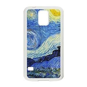 Starry Night Van Gogh Samsung Galaxy S5 Cell Phone Case White Usioq