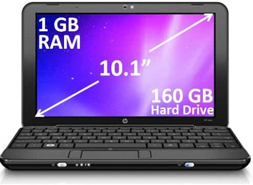 HP Mini 110-3098NR Netbook 1GB RAM, 1.66 Ghz, 160 GB HDD Laptop PC
