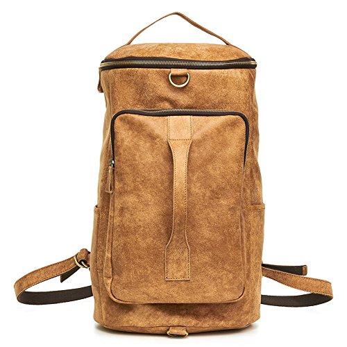 TOREEP Mens Leather Vintage Laptop Backpack Shoulder Bag Travel Bag - Outlet Shop Store Online Coach