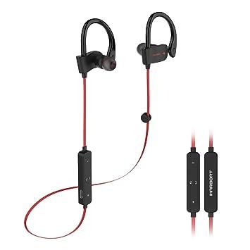 Iharbort® Auriculares Bluetooth Deportivos, Bluetooth 4.1 Auriculares inalámbricos de Deportes Auriculares con micrófono y AptX para Todos los teléfonos ...