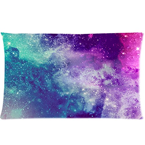 SIXSTARS Universe Space Nebula Galaxy Pattern Custom Zippered Bed Pillow Cases 20x30 (One Side)