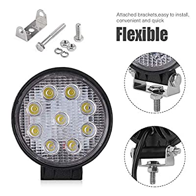 27W 3in Round stobe fog lights Spot Beam work lights trucks jeep forklift lights utility: Automotive