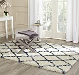 Safavieh Moroccan Shag Collection MSG343C Ivory and Blue Area Rug (4′ x 6′) Review