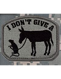 MIL-SPEC I Don't Give A Rat's Ass Patch ACU DARK
