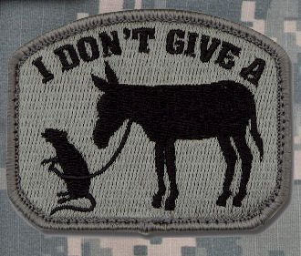 MIL-SPEC I Don't Give A Rat's Ass Patch ACU DARK Mil-Spec Monkey