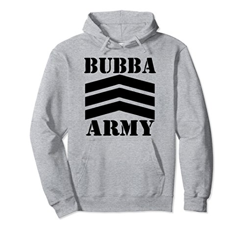 - Unisex Bubba Army Hoodie (Black Logo) - OFFICIAL BUBBA ARMY HOODIE Medium Heather Grey