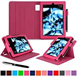 Kindle Fire HD 7 2014 Case, roocase Dual View 2014 Fire HD 7 Folio Case with Sleep / Wake Smart Cover with Multi-Viewing Stand for Amazon Kindle Fire HD 7 Tablet (4th Generation - 2014 Model), Magenta