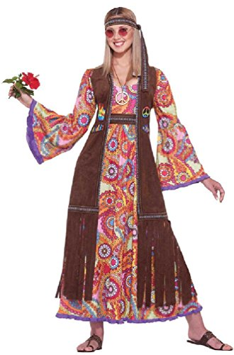 8eighteen 1960s Hippie Love Dress Up Adult Costume (Hippie Dress Up)