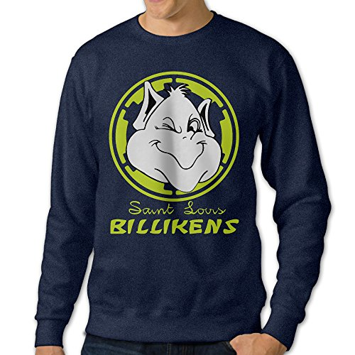 Missone Saint Louis University Mens Pullover-sweaters X-Large Navy