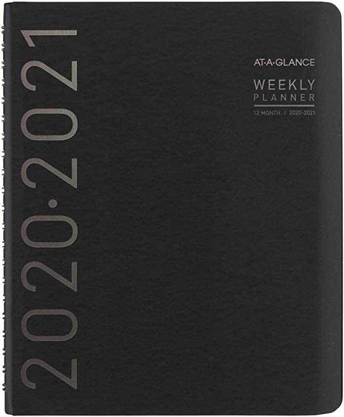 Academic Planner 2020-2021 AT-A-GLANCE Weekly /& Monthly Appointment Book Recycled 8-1//4 x 11 70957G05 Large Black