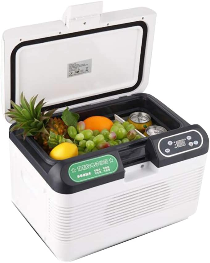 12L Dual-Core Refrigeration Car Refrigerator Electronic Cooler and Warmer Mini Freezer for Self-Driving Tours, Picnics, Fishing, Camping