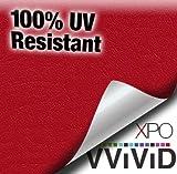 "VViViD Red Weatherproof Faux Leather Finish Marine Vinyl Fabric (1.5ft x 54"")"