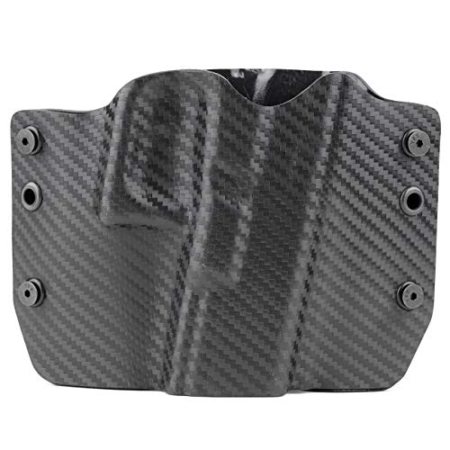 Black Carbon Fiber OWB Holster (Right-Hand, Glock 43)