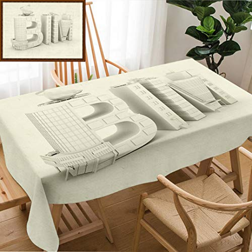 Unique Custom Design Cotton and Linen Blend Tablecloth Bim in The Shopping Center Over White Background D IllustrationTablecovers for Rectangle Tables, 70